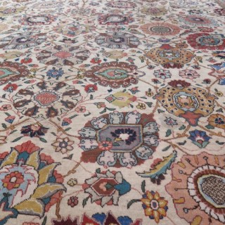 Fine Tabriz carpet, signed