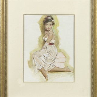 Seated Model by Fritz Willis (1907-1979)