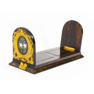Antique Victorian Betjemann's Pietra Dura Coromandel Book Slide 19th C