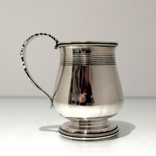Antique George IV Sterling Silver Childs Mug London 1823 George Knight