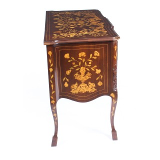 Antique Dutch Mahogany and marquetry block front commode chest c.1820 19th C