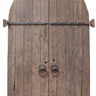 A Pair of Antique Reclaimed Arched Oak Church Doors