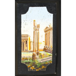 Antique Micromosaic Easel Photo Frame G.Roccheggiani Rome 19th Century