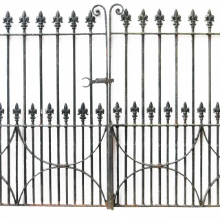 A Set of 10 ft Antique Wrought Iron Driveway Gates (Two Sets Available)