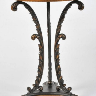 Early 19th Century Painted Iron Tripod Table attributable to Coalbrookdale.