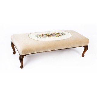 Antique large Stool Ottoman Coffee table 19th Century 148x64cms