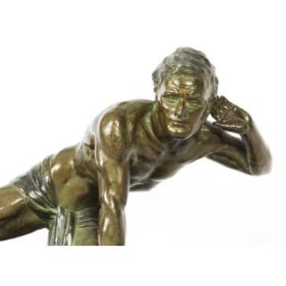 Antique Art Deco Bronzed Sculpture