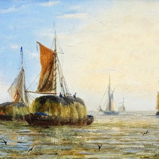 Thames Barges (A Pair)