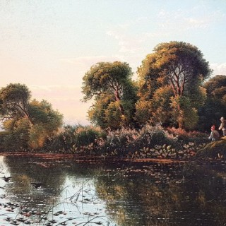 Evening on the Thames, Near Marlow & On The Thames at Pangbourne (A Pair)