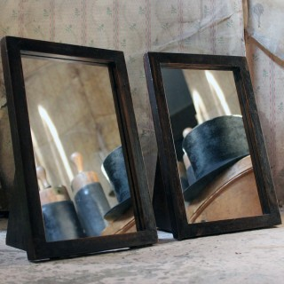 A Pair of Early 20thC Oak Milliner Shop Table Mirrors; Annie Gold; French Milliner; Spitalfields, London