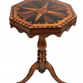 AN ENGLISH GEOMETRIC MARQUETRY SIDE TABLE