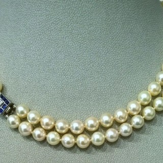 Cultured pearl necklace c.1940