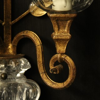 French Pair Of 'Maison Baques' Wall Lights