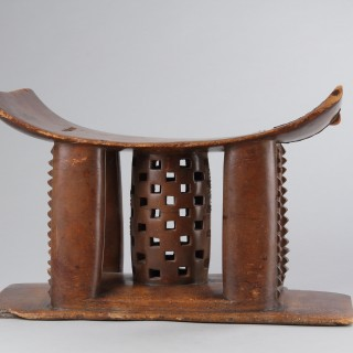 King Koffee's Asante Stool from the Benin City of 'Coomassie' Komasi