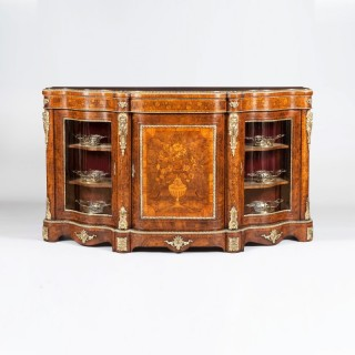 A Floral Marquetry and Ormolu Mounted Credenza