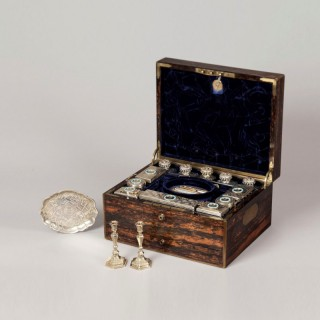A Mid Nineteenth Century Lady's Travelling Dressing Case