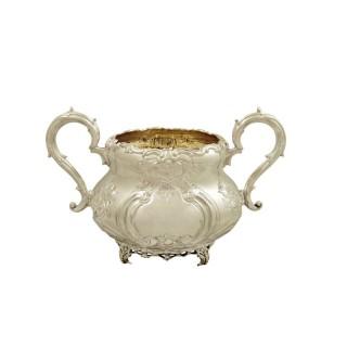 Antique Edwardian Sterling Silver 2 Handle Bowl 1908