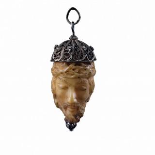 Spanish Memento Mori Janus Head Rosary Bead