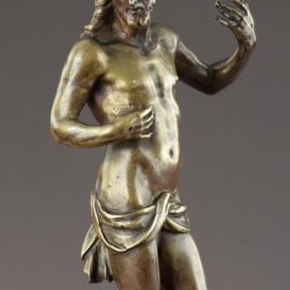Flemish Late Renaissance Bronze Statuette of the Risen Christ