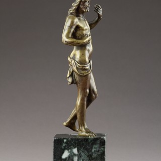 Flemish Late Renaissance Bronze Statuette of the Risen Christ