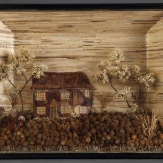 American Folk Art Diorama Depicting a Pennsylvania Homestead