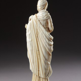 Sino-Portuguese Macau Carved Ivory Figure of the Virgin and Child