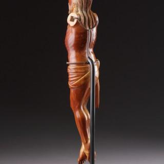 Rare Sinhalese - Portuguese Carved Ivory Corpus Christi 'Christo Vivo'