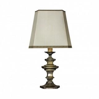 A SILVERED BRONZE FLEMISH LAMP