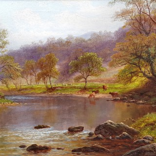 On the Wharfe, Bolton Abbey, Yorkshire (A Pair)