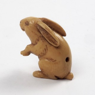 Netsuke Rabbit, Meiji Period 1868-1912