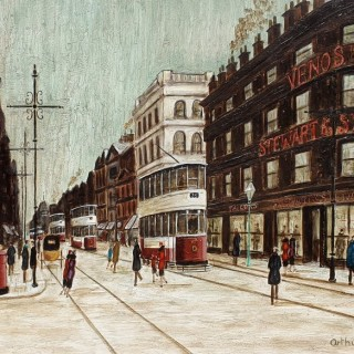 Northern Street Scene with Trams