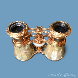 A Spectacular Pair of French Opera Glasses