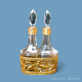 A Beautiful French Scent Bottle Set from the Belle Epoque