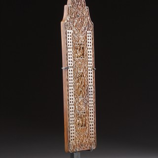 Chinese Export Cribbage Board with English Name and Date 'Stewart Paxton 1825'