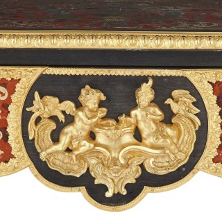 Gilt bronze mounted Boulle inlaid writing desk