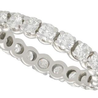 1.68ct Diamond and Platinum Full Eternity Ring - Vintage Circa 1970