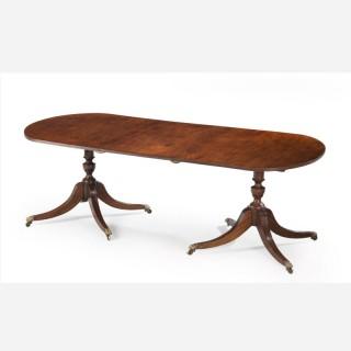 George III Style Mahogany Dining Room Table