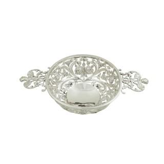 Antique Victorian Sterling Silver Pierced Dish / Basket 1893