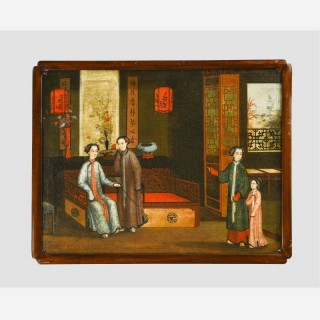 A Rare Regency Period Oil on Board Painting