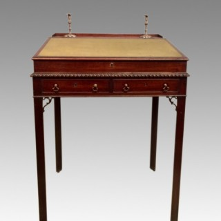 18th century antique Chippendale mahogany architect's desk.