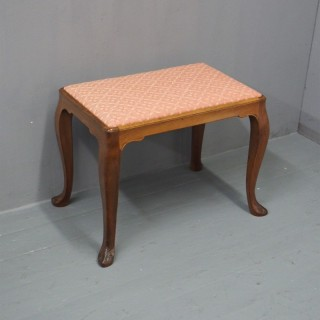 Whytock and Reid Walnut Stool