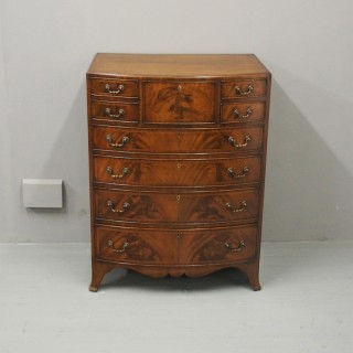 Georgian Style Inlaid Mahogany Bowfront Chest
