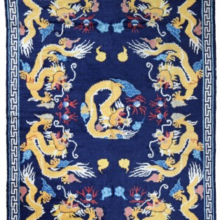 Antique Chinese 'Pao-Tu' Dragon rug