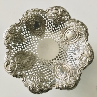 Small Siver Comport Dish