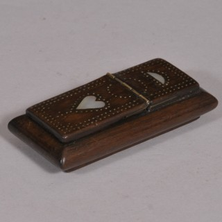 Antique Treen 19th Century Rosewood Snuff Box
