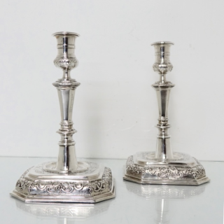 German Silver Candlesticks Augsburg 1712-1715 Thomas Dankenmair