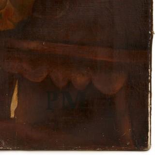 Antique oil painting of Torah Procession after Solomon Alexander Hart