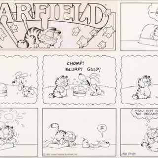 Odie Just Can't Catch A Break, Even In Garfield's Dreams!