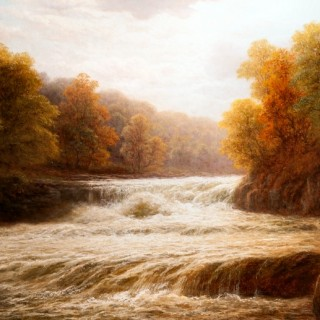 Aysgarth Falls in Flood, Wensleydale