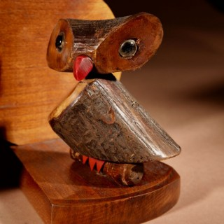 Amusing Pair Of Black Forest Art Deco Owl Bookends. Circa 1920-1940